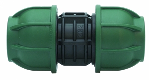 PE-Klemmverbinder Kupplung gerade 25 x 25 mm
