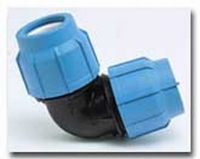 PE-Klemmverbinder Winkel 90° 40 x 40 mm