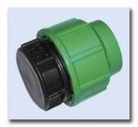 PE-Klemmverbinder Endkappe 50 mm