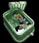 Vormontierte Tropfbewässerungskopfstation mit 1 Hunter Ventil