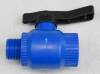 Kugelventil aus PP Typ ICE mit Chromkugel, 1 IG x 1 AG