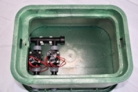 Vormontierte Hunter Ventilstation mit 2 Hunter Magnetventilen