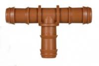 Steckverbinder für Tropfrohre, T-Stück 16 x 16 x 16 mm