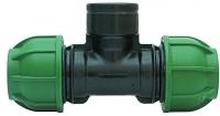 PE-Klemmverbinder T-Stück 32 x 3/4 IG x 32 mm