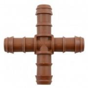 Steckverbinder für Tropfrohre, Kreuz-Stück 4 x16 mm