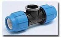 PE-Klemmverbinder T-Stück 16 x 1/2 IG x 16 mm